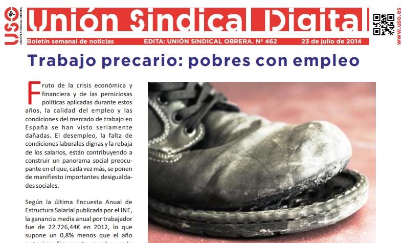 Boletín USO Unión Sindical Digital nº462