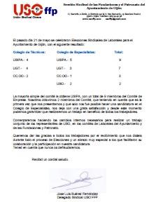 Elecciones Sindicales 2015
