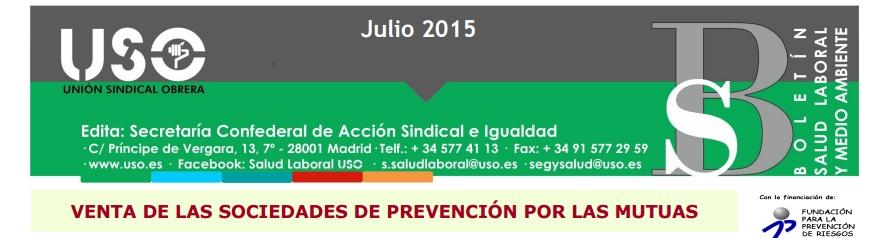 Boletín Prevención Julio 2015